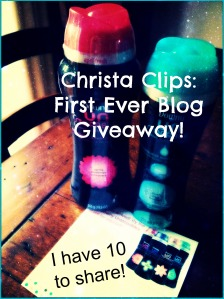 Christa Clips 1st blog giveaway