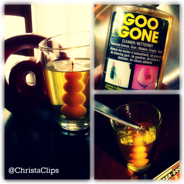 "Trim the wick to 1/4"" to keep the rim free from soot. GooGone is great for removing stickers & labels."