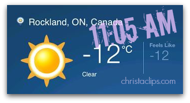 No wind-chill factor?!  That's rare! Indoor drying is the only option on these days unless you like jeans-icles!