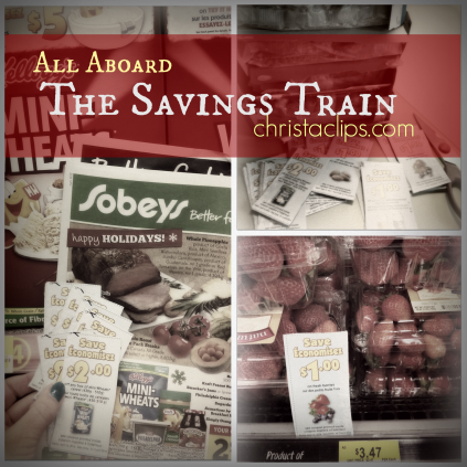 All Aboard the Savings Train Christa Clips Save-at-Home-Mom