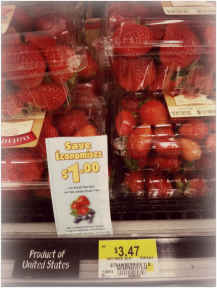 "There ARE fresh fruit coupons from time to time! My savings mantra is ""bit by bit, it all adds up!"""