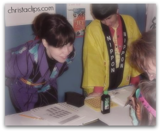 Volunteering at the International Tulip Festival in 2000 at the JETAA booth - we taught kids to write their names in Japanese!