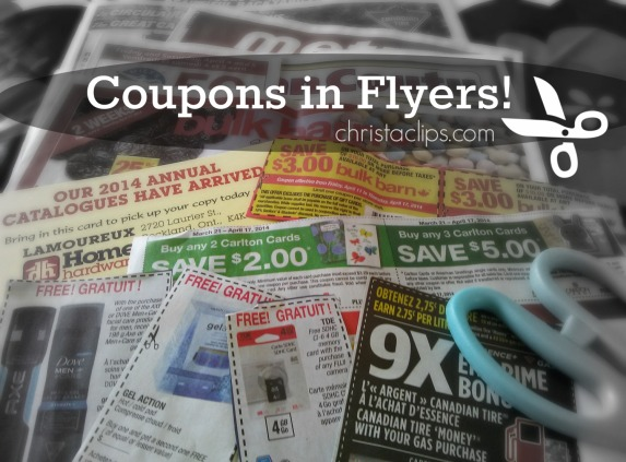 Flyers are another place to find coupons to clip. Christa Clips shares 3 Easy Steps to maximize your coupon savings!