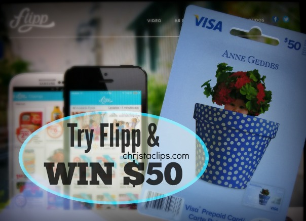Download Flipp and enter the $50 Visa Card Giveaway on ChristaClips.com