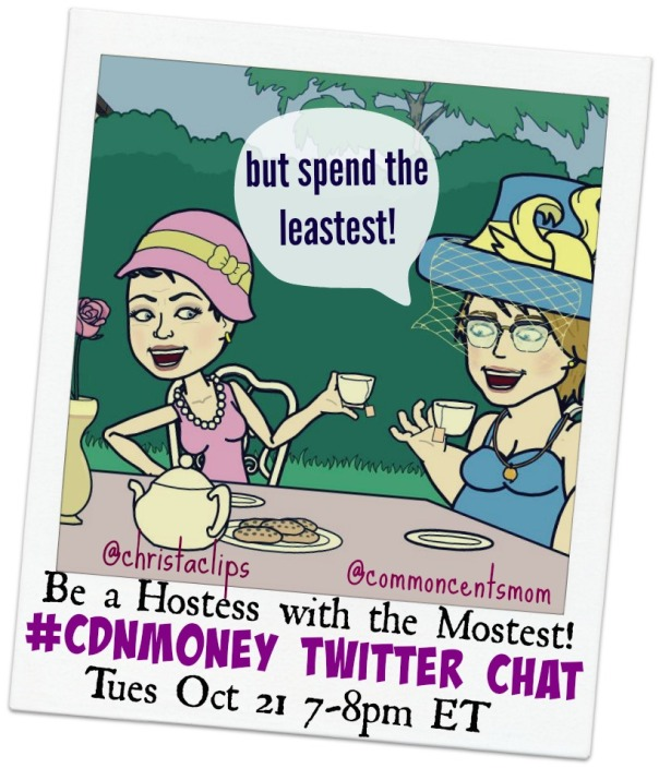 #CDNmoney Twitter Chat Hosts Christa & Hollie are Hostesses with the Mostestest!