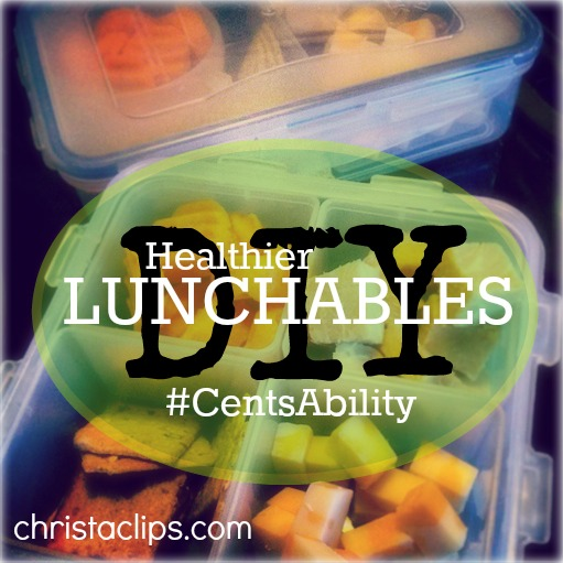 Christa Clips compares the cost of pre-made lunchable kits to a healthier DIY version. It's all part of the 30 Day #CentsAbility Challenge!
