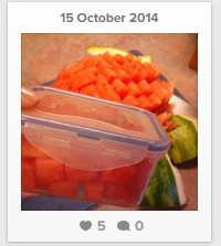 Saved time & money by  carving this watermelon into 11 lunchbox servings