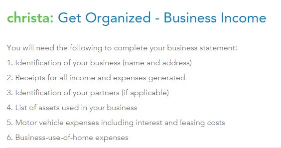 Turbo Tax tells me what I need to go and find before I can fill in the next section.